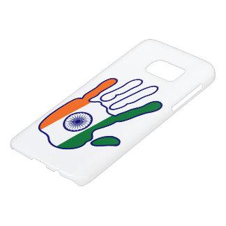 holiES - India Flag Hand + your ideas Samsung Galaxy S7 Case