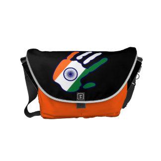 holiES - India Flag Hand + your ideas Small Messenger Bag