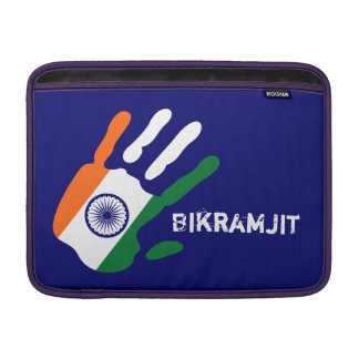 holiES - India Flag Hand + your name Sleeve For MacBook Air