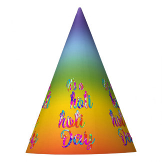 holiES - IT'S A HOLI HOLI DAY + your backgr. Party Hat