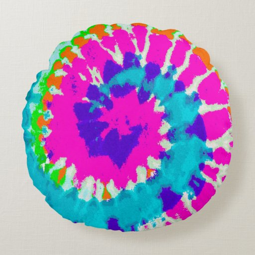 holiES - Power Spiral Batik Style Round Pillow