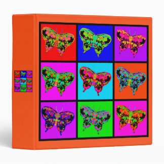 holiES - Psychedelic Butterflies Mosaic 3 Ring Binder