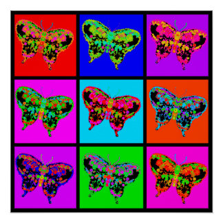 holiES - Psychedelic Butterflies Mosaic Poster