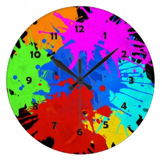 holiES - Splashes round 2 + your ideas Large Clock