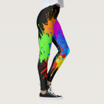 "holiES - Splashes round 2   your ideas Leggings<br><div class=""desc"">Colorfully Splashes and Splatters designs for Joy by EDDA Froehlich / EDDArt 