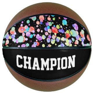 holiES - Splatter multicolored 1 + your backgr. Basketball