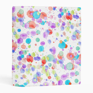 holiES - Splatter multicolored 1 + your backgr. Mini Binder