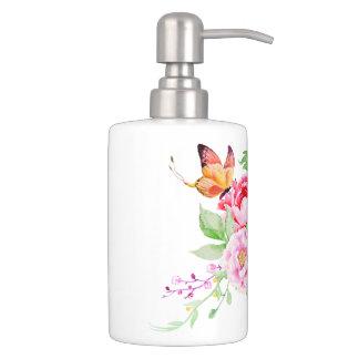 holiES - Watercolor Spring Flowers Bouquet 2 Bathroom Set