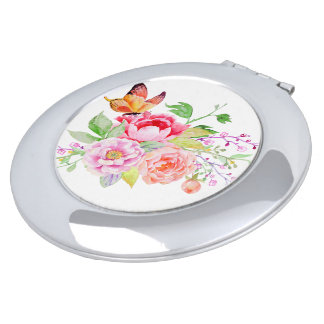 holiES - Watercolor Spring Flowers Bouquet 2 Compact Mirror