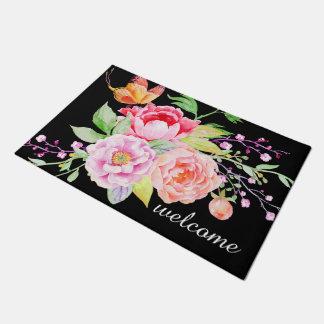 holiES - Watercolor Spring Flowers Bouquet 2 Doormat