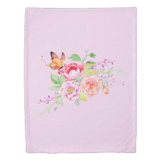 holiES - Watercolor Spring Flowers Bouquet 2 Duvet Cover