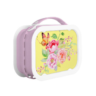 holiES - Watercolor Spring Flowers Bouquet 2 Lunch Box