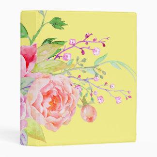 holiES - Watercolor Spring Flowers Bouquet 2 Mini Binder