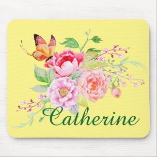 holiES - Watercolor Spring Flowers Bouquet 2 Mouse Pad