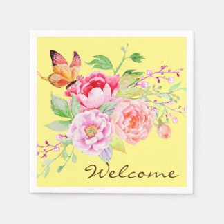 holiES - Watercolor Spring Flowers Bouquet 2 Napkin