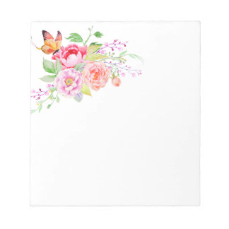 holiES - Watercolor Spring Flowers Bouquet 2 Notepad