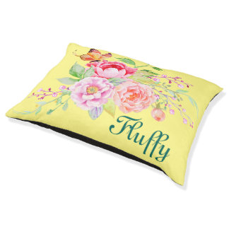 holiES - Watercolor Spring Flowers Bouquet 2 Pet Bed