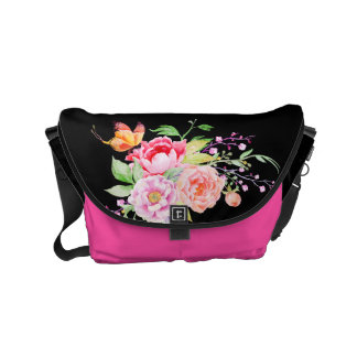 holiES - Watercolor Spring Flowers Bouquet 2 Small Messenger Bag