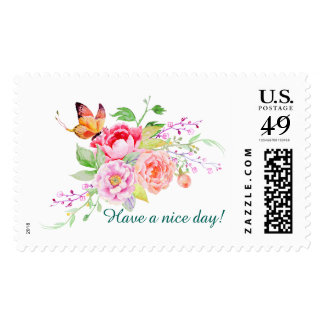 holiES - Watercolor Spring Flowers Bouquet 2 Stamp