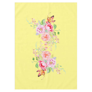 holiES - Watercolor Spring Flowers Bouquet 2 Tablecloth