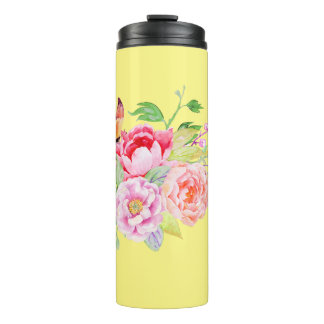holiES - Watercolor Spring Flowers Bouquet 2 Thermal Tumbler