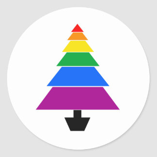 HOLIGAY TREE -.png Round Stickers