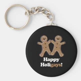 Holigays feliz - llavero redondo tipo pin