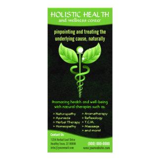 Holistic Alternative Medicine Green Caduceus Rack Card