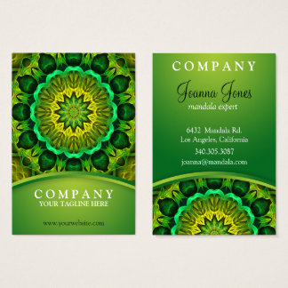 Holistic Green mandala, Blooming Forest Guardians Business Card