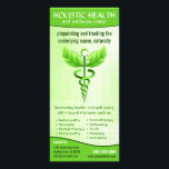 """Holistic Health Alternative Medicine Caduceus Rack Card<br><div class=""""desc"""">&#169; Sunny Mars Designs - Light Green Caduceus Alternative Medicine Symbol Rackcards – Holistic health rack cards featuring a modified version of the Caduceus. Alternative medical symbol with leaves instead of wings and a vine instead of serpents. Concept for alternative medicine or a combined use of alternative medicine and conventional...</div>"""