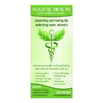 Holistic Health Alternative Medicine Caduceus Rack Card