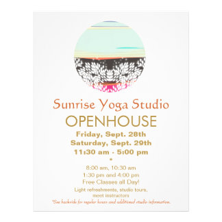 Holistic Health and Healing Arts Sunrise Logo Flyer