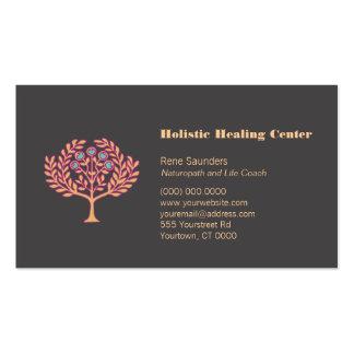 Holistic Health and Wellness Tree Business Card