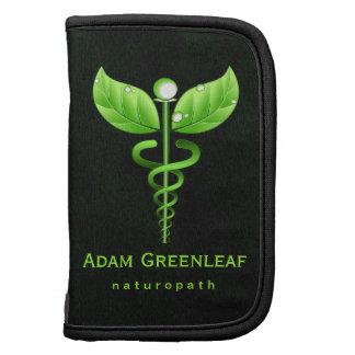 Holistic Health Green Caduceus Folio Planner Planners