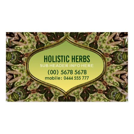 Holistic Herbs Shaman Pattern New Age Herbalist Business Cards