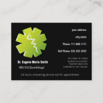 holistic medicine business card with appointment