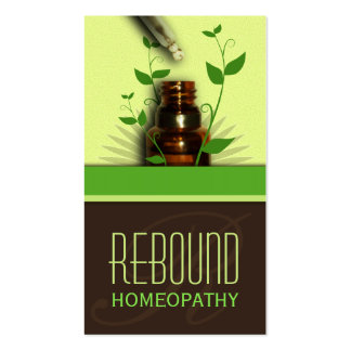 Holistic Natural Therapy Homeopathy Business Cards Business Card