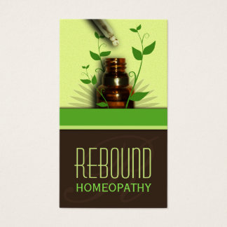 Holistic Natural Therapy Homeopathy Business Cards