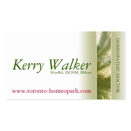 Holistic Practitioner Homeopathic Calling Cards