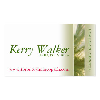 Holistic Practitioner Double-Sided Standard Business Cards (Pack Of 100)