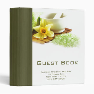 Holistic Spa Guest Book 3 Ring Binders
