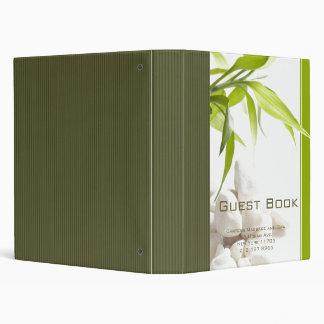 Holistic Spa Guest Book Vinyl Binders