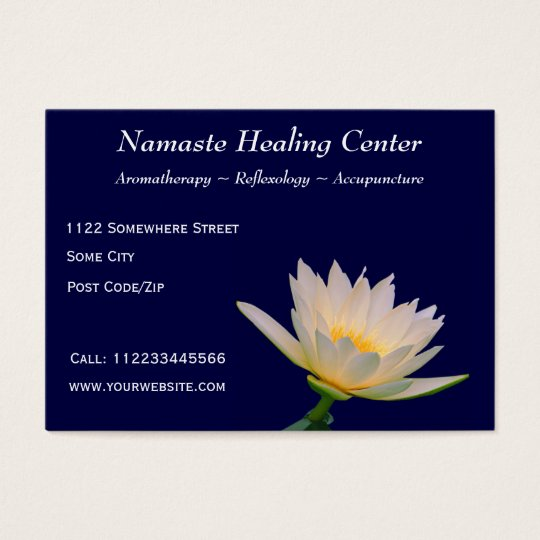 Holistic Therapy/Yoga/Meditation Business Card