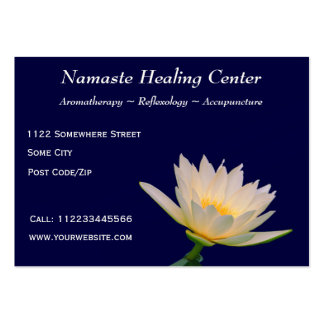 Holistic Therapy/Yoga/Meditation Large Business Card