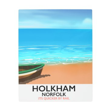 Beach Themed Holkham Norfolk Beach travel poster