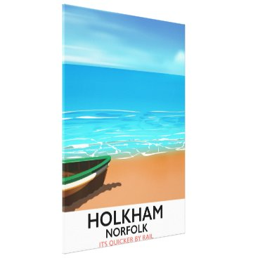 Beach Themed Holkham Norfolk Beach travel poster Canvas Print