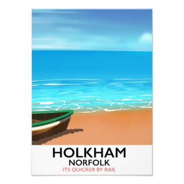 Beach Themed Holkham Norfolk Beach travel poster Photo Print