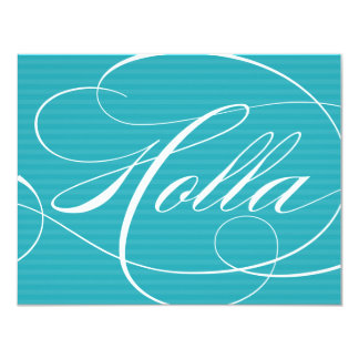 HOLLA BLUE SCRIPT | NOTE CARDS