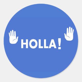 Holla Classic Round Sticker