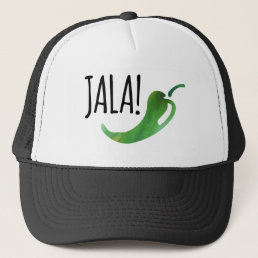 Holla Jalapeno Funny Trucker Hat